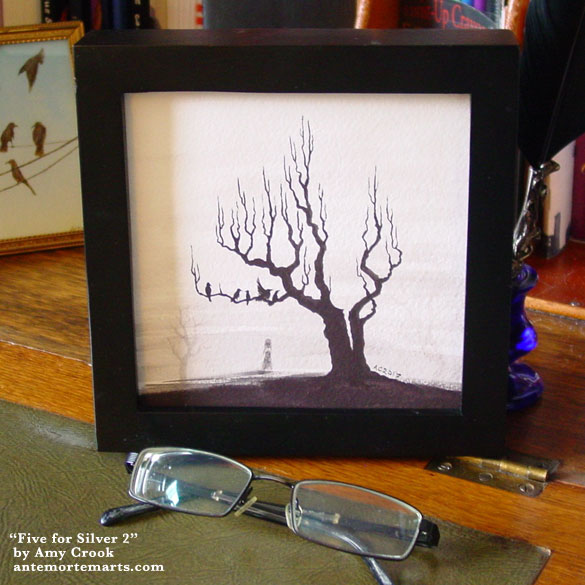 Five for Silver 2, framed art by Amy Crook