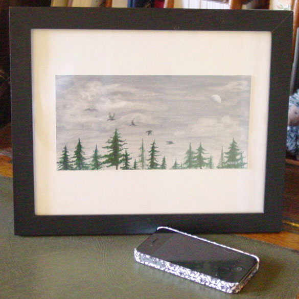 Five for Silver, framed art by Amy Crook