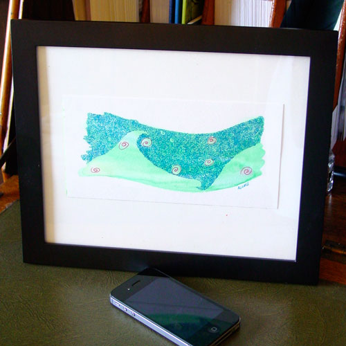 Flow, framed, by Amy Crook