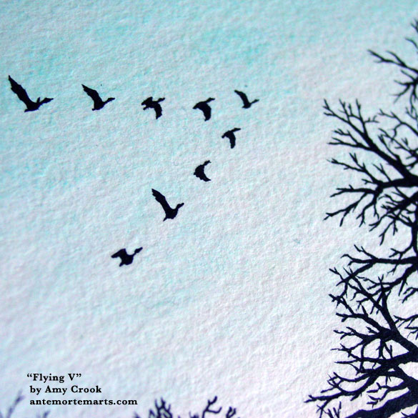 Flying V, detail, by Amy Crook