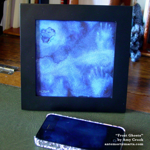 Frost Ghosts, framed art by Amy Crook