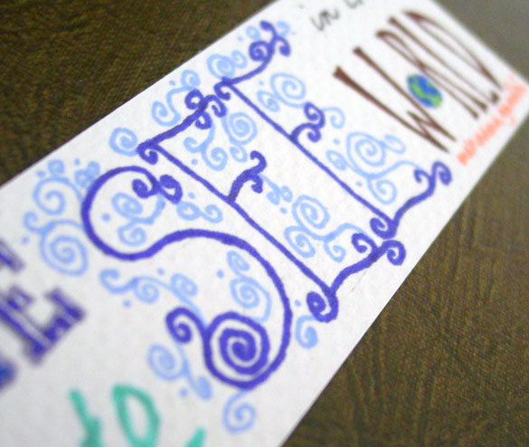 Be the Change Bookmark, detail, by Amy Crook