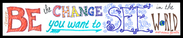 Be the Change Bookmark by Amy Crook
