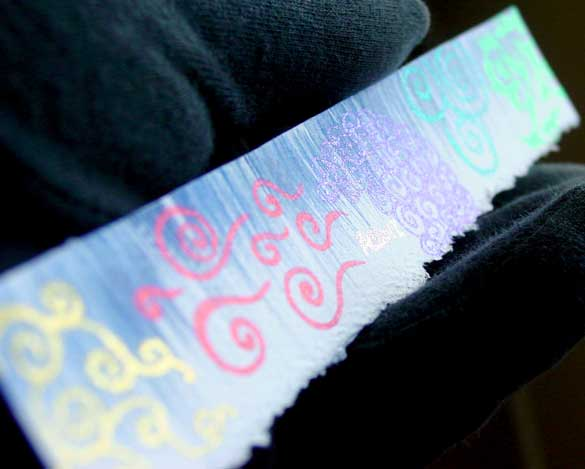 Glitter Sketch Bookmark, detail, by Amy Crook