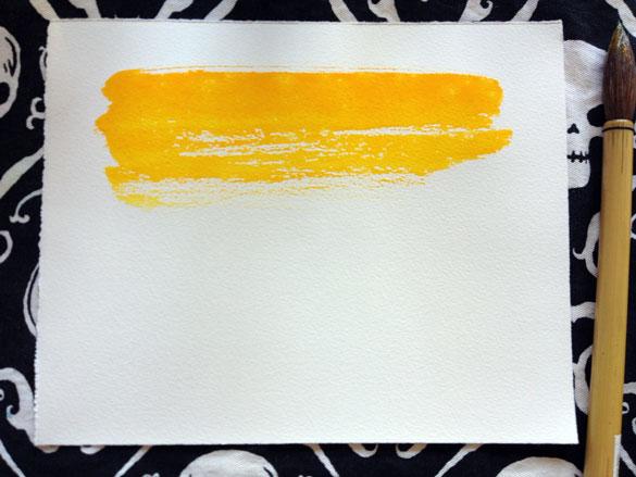 a few good swipes of warm yellow-gold paint