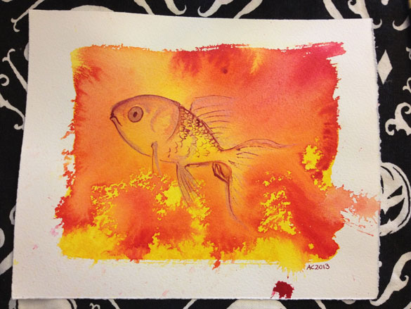 flip it over and paint a fish on it