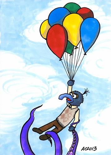 Old Friends Who've Just Met, Muppets fan art by Amy Crook
