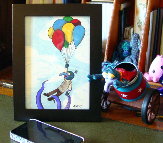 Old Friends Who've Just Met, framed art by Amy Crook
