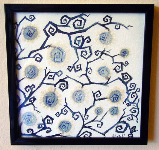Goth Vines, framed art by Amy Crook