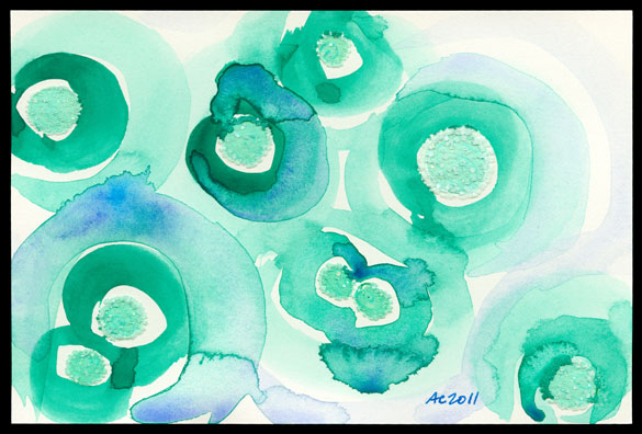 Green to Blue, abstract art by Amy Crook