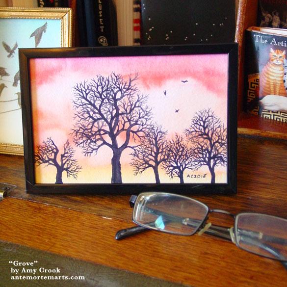 Grove, framed art by Amy Crook