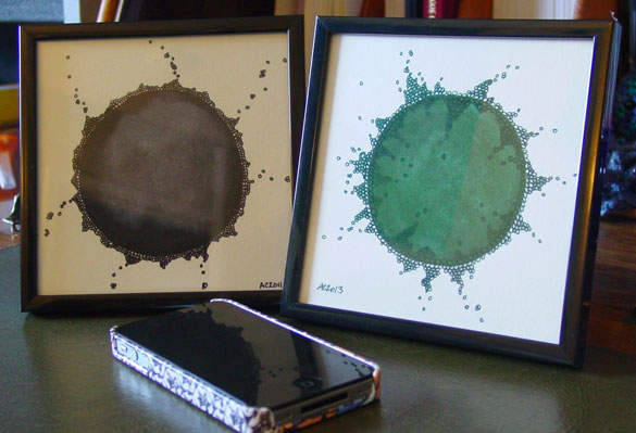 Growth and Growth 2, framed art by Amy Crook