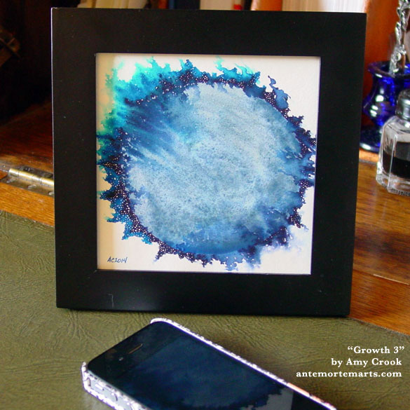 Growth 3, framed art by Amy Crook
