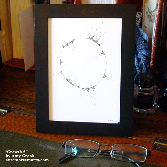 Growth 6, framed art by Amy Crook