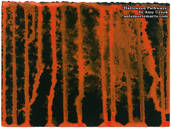 Halloween Pathways, abstract art by Amy Crook