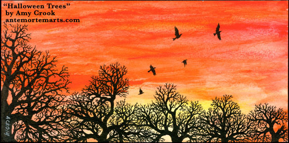 Halloween Trees by Amy Crook