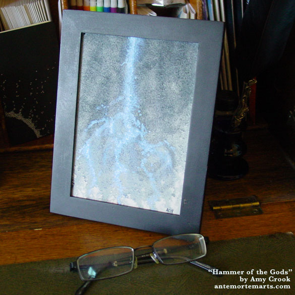 Hammer of the Gods, framed art by Amy Crook