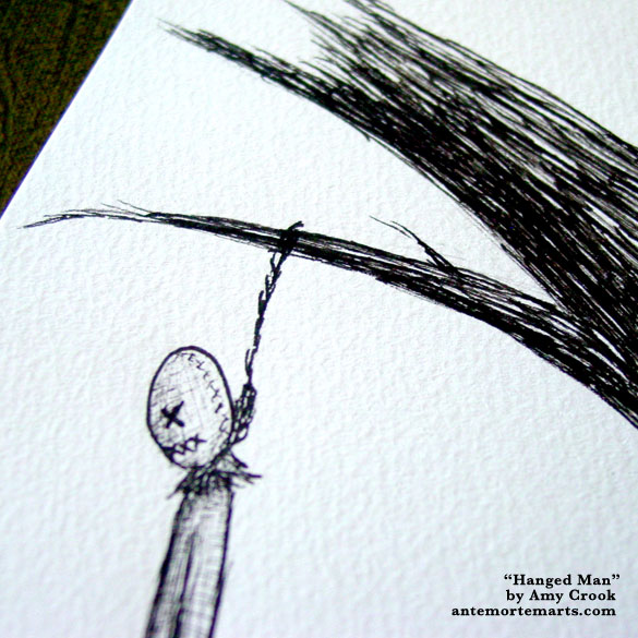 Hanged Man, detail, by Amy Crook