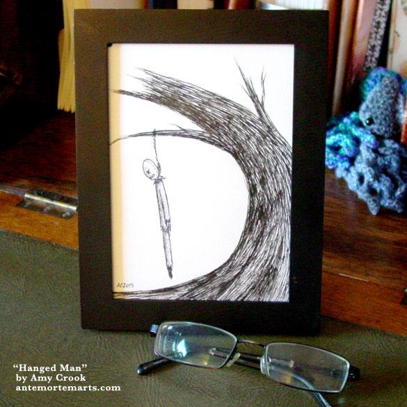 Hanged Man, framed art by Amy Crook