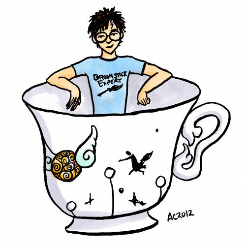 Teacup Potter cartoon by Amy Crook