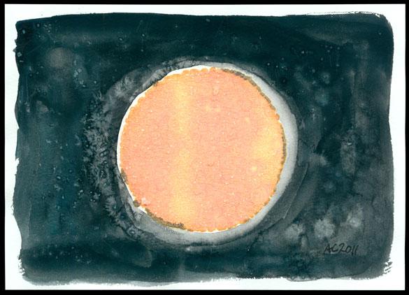 Harvest Moon 2, framed art by Amy Crook