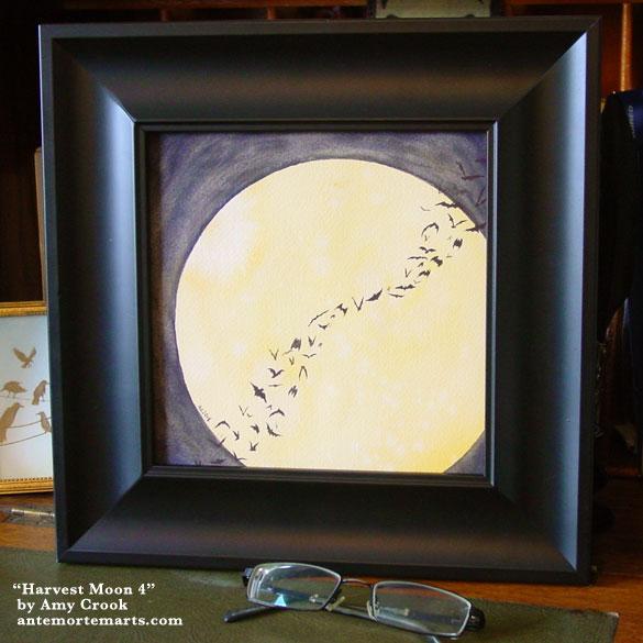 Harvest Moon 4, framed art by Amy Crook
