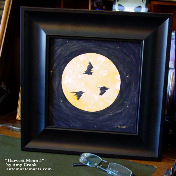 Harvest Moon 5, framed art by Amy Crook