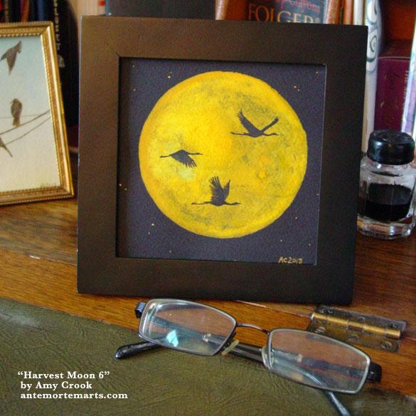 Harvest Moon 6, framed art by Amy Crook