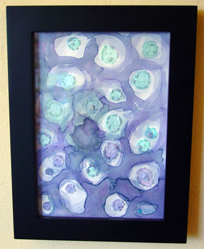 Hibiscus Blue 1, framed art by Amy Crook