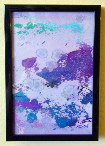 Hibiscus Violet, framed art by Amy Crook