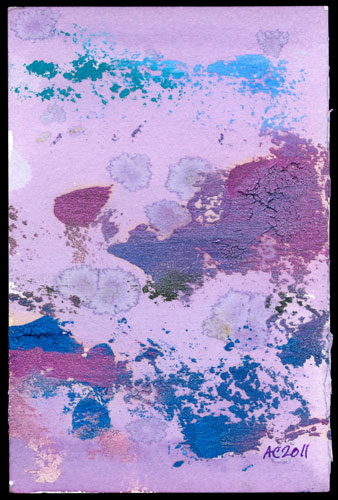 Hibiscus Violet, abstract art by Amy Crook