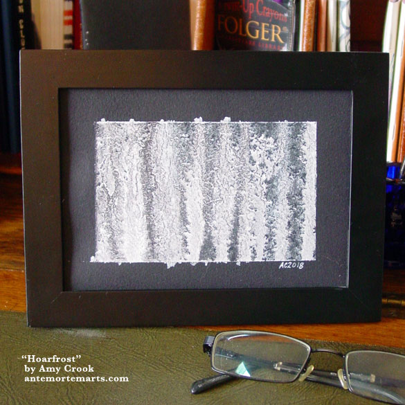 Hoarfrost, framed art by Amy Crook