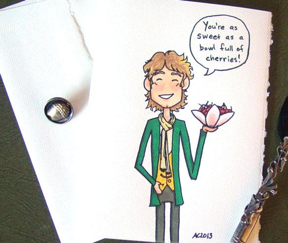 Hobbit Valentine by Amy Crook on Etsy