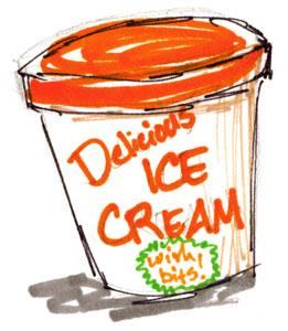 Delicious Ice Cream - with bits!