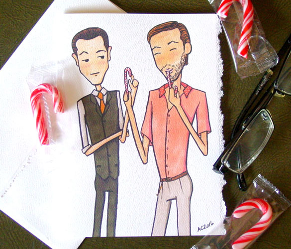 Inception holiday card by Amy Crook on Etsy