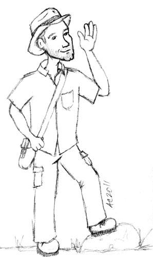 Indiana Bob sketch by Amy Crook