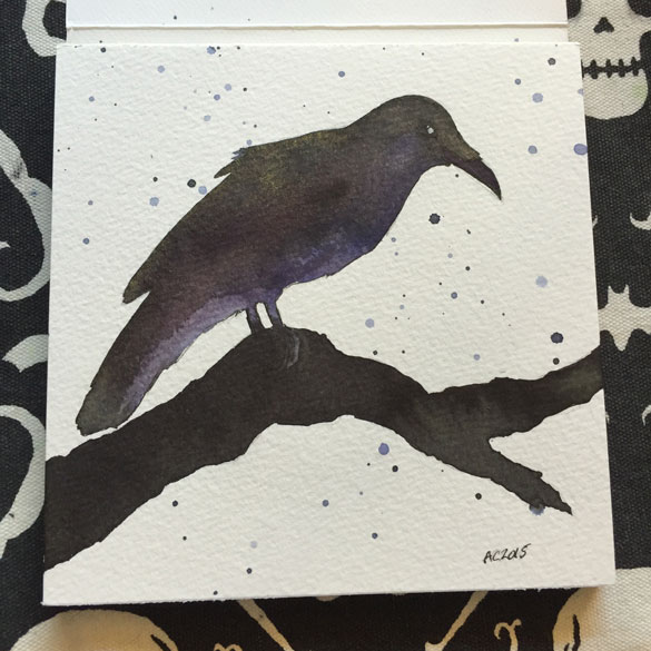 Day 8 - an experimental raven