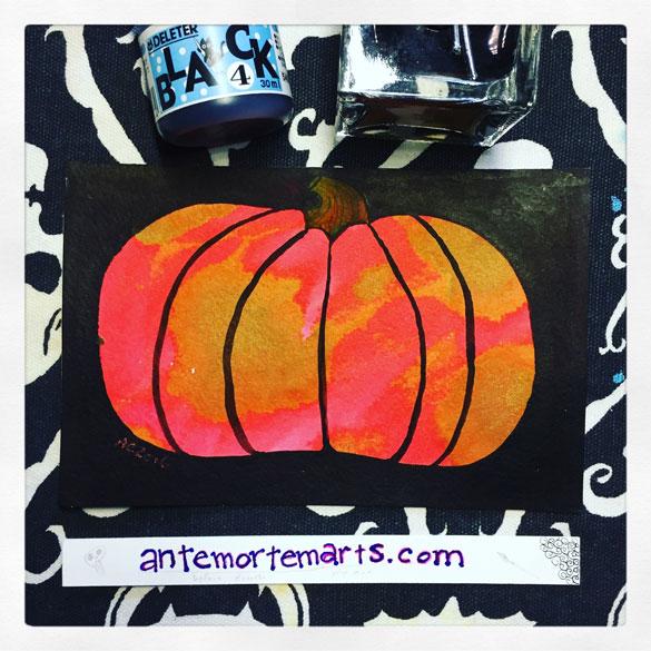 Inktober day 2: red pumpkin