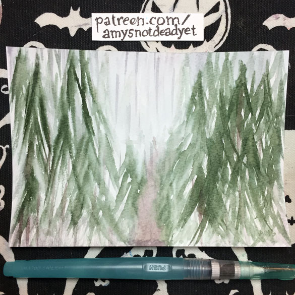 Inktober day 22: Rainy Day Forest for Molly