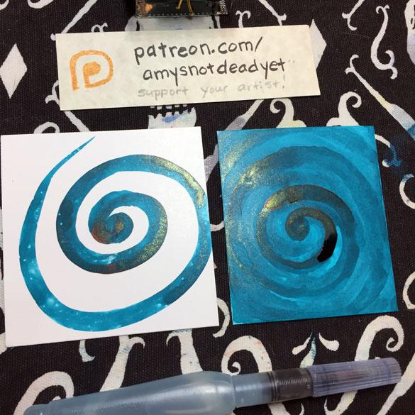 Inktober day 11: Ink Spirals