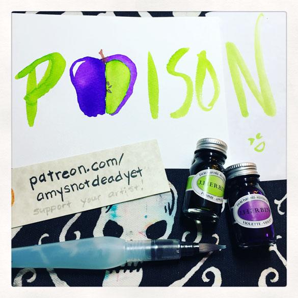 Inktober day 27: Poison Apple