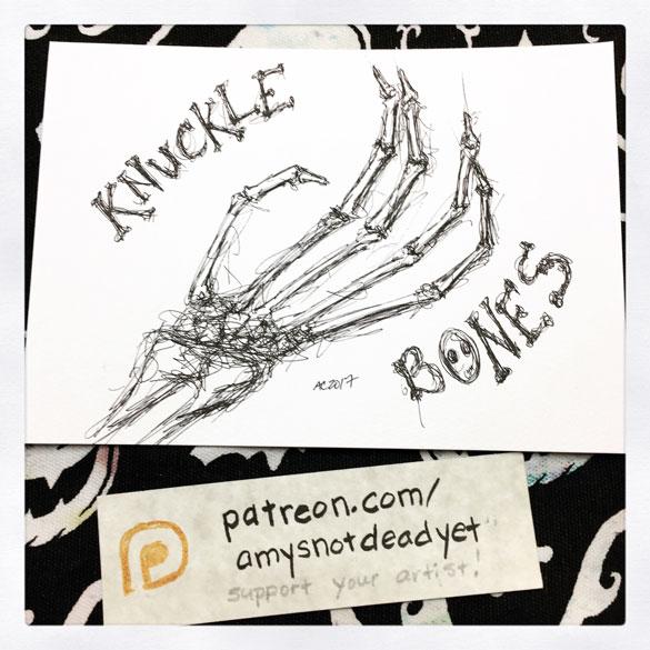 Inktober day 31: Knucklebones