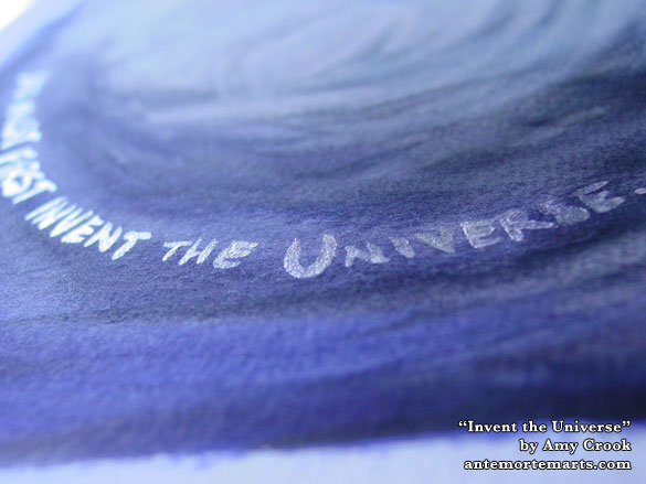 Invent the Universe, detail, by Amy Crook