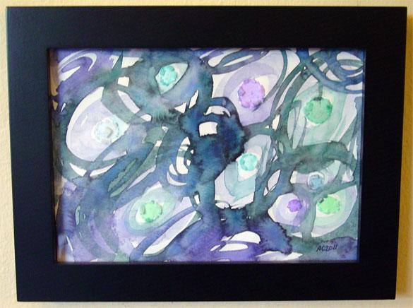 Iridescence 3, framed art by Amy Crook