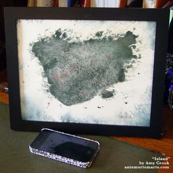 Island, framed art by Amy Crook