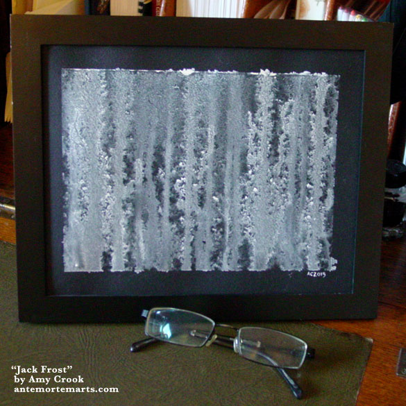 Jack frost, framed art by Amy Crook