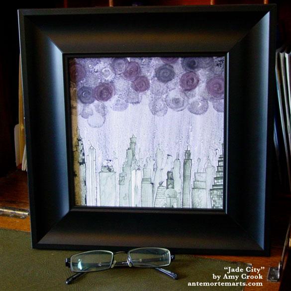 Jade City, framed art by Amy Crook