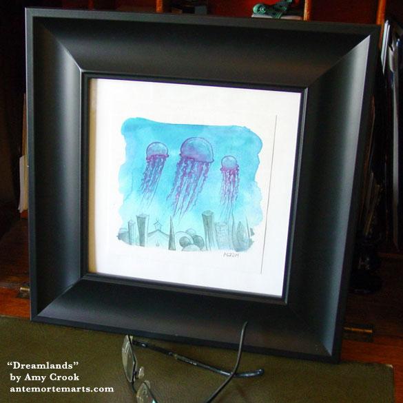 Dreamlands, framed art by Amy Crook