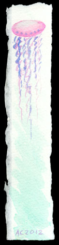 Jellyfish Bookmark 3 by Amy Crook
