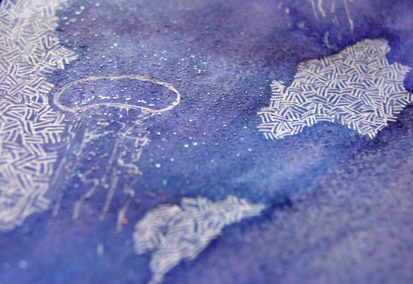 Jellyfish Deeps 2, detail, by Amy Crook